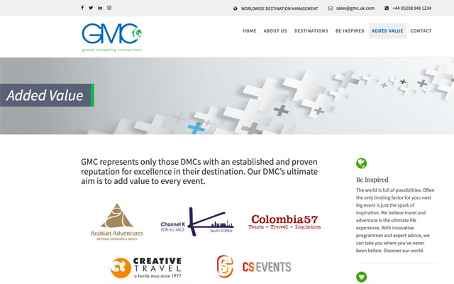 GMC.UK.COM Destination Management